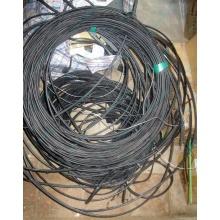 Оптический кабель Б/У для внешней прокладки (с металлическим тросом) в Бронницах, оптокабель БУ (Бронницы)