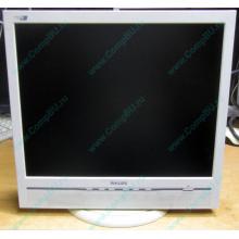 """Б/У монитор 17"""" Philips 170B с колонками и USB-хабом в Бронницах, белый (Бронницы)"""