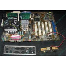 Материнская плата Asus P4PE (FireWire) с процессором Intel Pentium-4 2.4GHz s.478 и памятью 768Mb DDR1 Б/У (Бронницы)